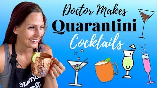 Doctor Tries Five VIRAL Delicious Quarantine Cocktails