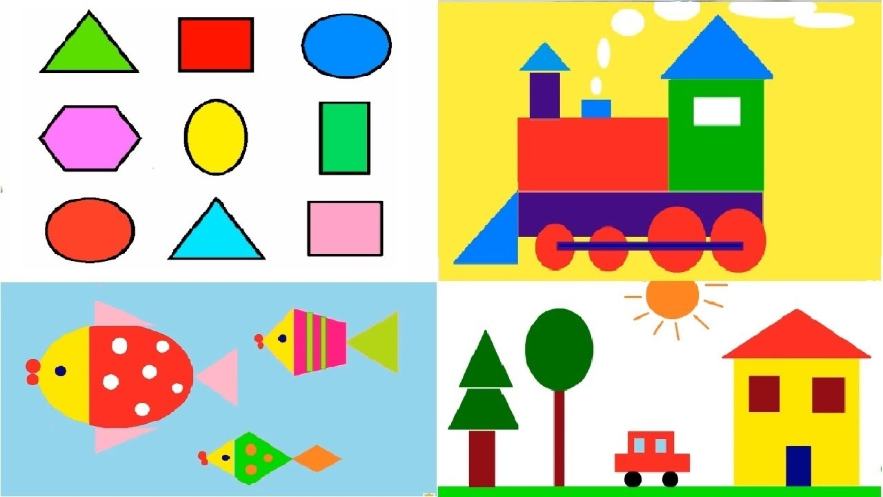 Coloring Shapes And Make Pictures Of Shapes