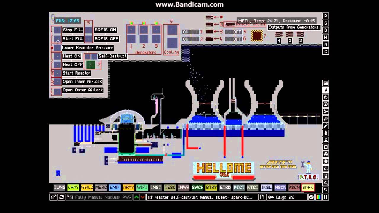 The Powder Game: Nuclear Reactor Awesomeness - YouTube