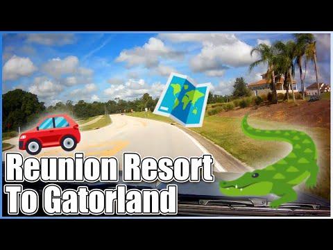 Driving from Reunion Resort to Gatorland Orlando Florida Slow TV Riding Shotgun Real Time