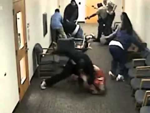 brutal gang fight in court