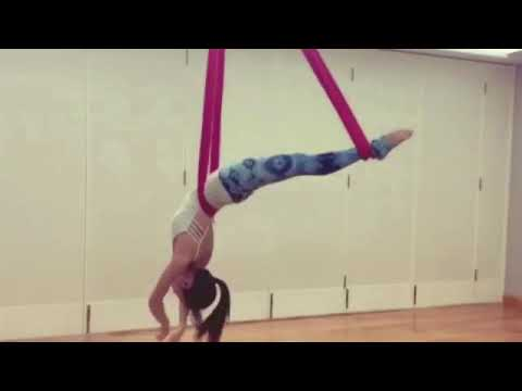 Aerial hammock, Aerial dance ,Aerial flow By Emma ( Bodymind yoga and fitness center Hongkong)