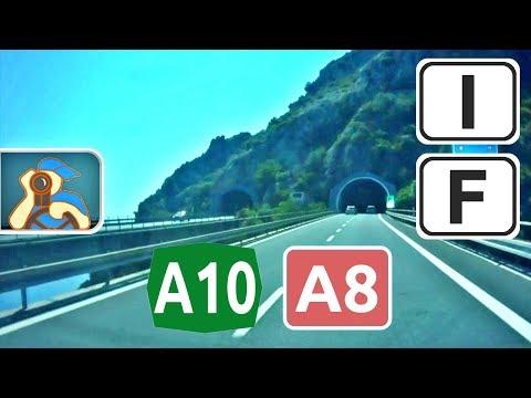Italia, Sanremo - A10 - A8 - France, Nice
