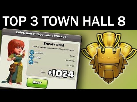 Top 3 Town Hall 8 Trophy Base 2017 | CoC Th8 Best Trophy Pushing Layouts