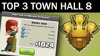 Top 3 Town Hall 8 Trophy Base 2017 | CoC Th8 Best Trophy Pushing Layouts - Clash of Clans