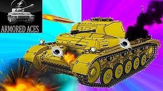 Мульт танки Armored aces #7 онлайн игра немецкий танк Видео для детей как Tanktastic