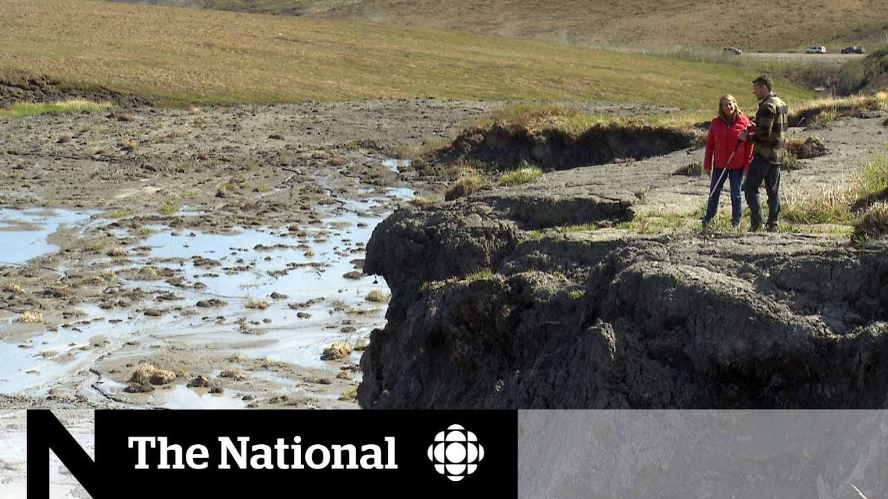 Download Climate change thawing permafrost in Northern Canada