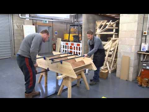 How to Glue up and assemble a flight of stairs