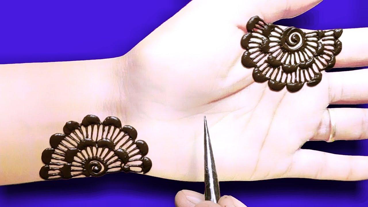 रक्षाबंधन,राखी स्पेशल मेहंदी डिजाइन-easy front hand flower mehndi design-Arabic Henna mehndi design