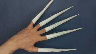 как сделать из бумаги длинные когти