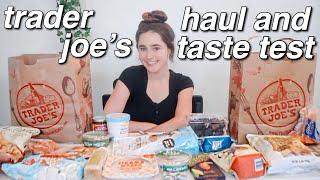 trader joe's haul and taste test! vegan ( ◠‿◠ )