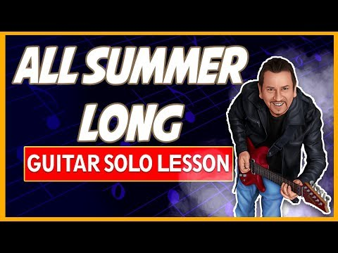 Kid Rock - All Summer Long - Guitar Solo Lesson