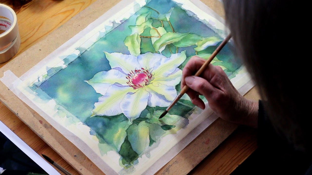 Watercolour Demo Single White Flower Part 5