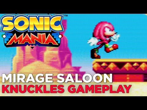 SONIC MANIA: Mirage Saloon Zone KNUCKLES Gameplay (No Commentary)