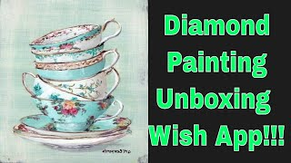 Diamond Painting Unboxing Wish App