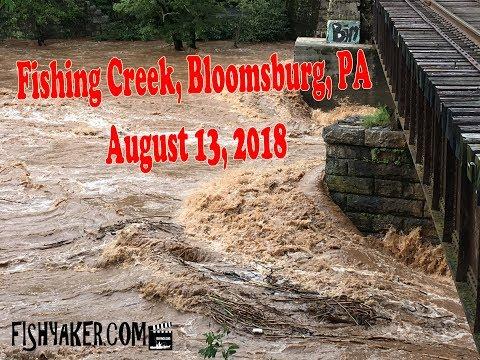Fishing Creek - Bloomsburg, Pennsylvania: Flooding - August 13, 2018