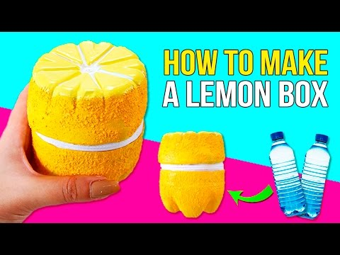 DIY Lemon BOX 🍋 * LEMON BOX 🗳 with TWO plastic BOTTLES