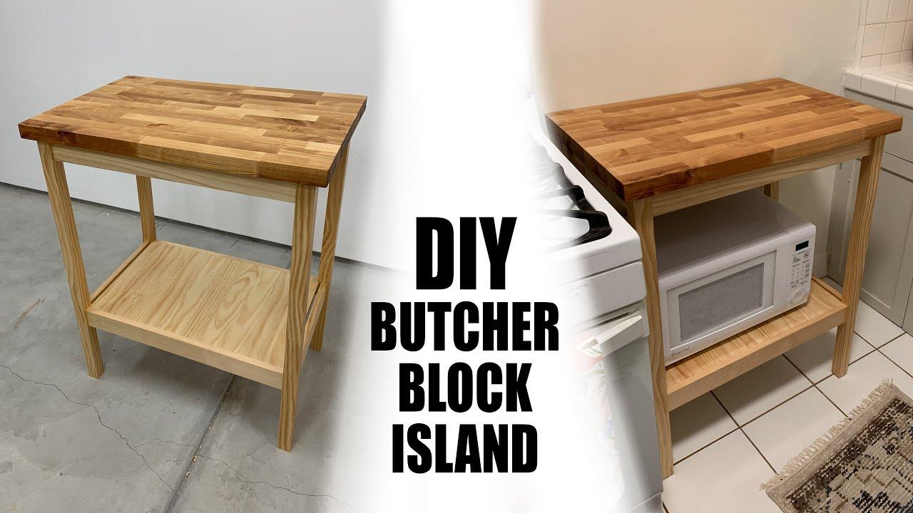 Diy Butcher Block Island Youtube