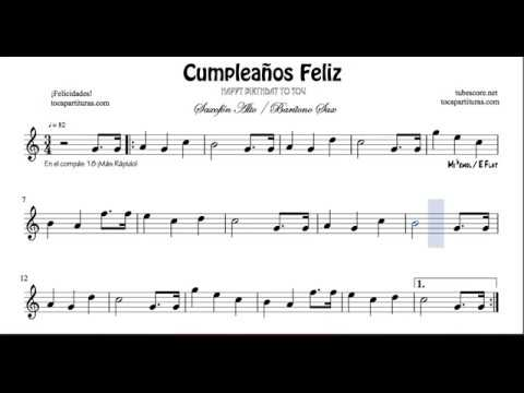 Happy Birthday To You Alto Saxophone Easy Sheet Music For Beginners Youtube