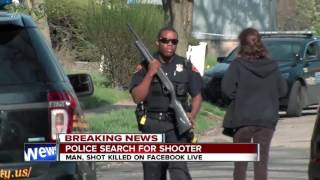11pm breaking news: manhunt for Facebook live killer