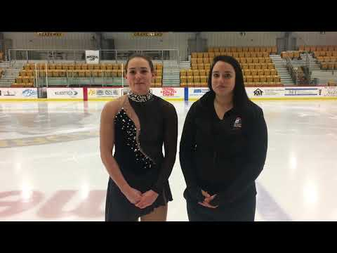 Figure skating basics with Adrian College skaters