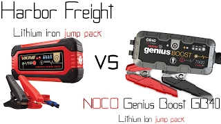 Harbor freight lithium ion jump pack booster VS NOCO Genius Boost GB40 jump pack / booster - Review