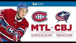 NHL 19 PS4. REGULAR SEASON 2018-2019: Montreal CANADIENS VS Columbus BLUE JACKETS.01.18.2019.(NBCSN)