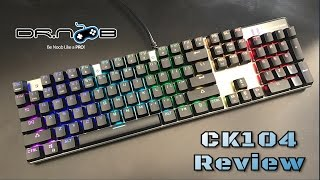 Motospeed Inflictor CK104 Mechanical Gaming Keyboard - Greek Review (Gearbest)