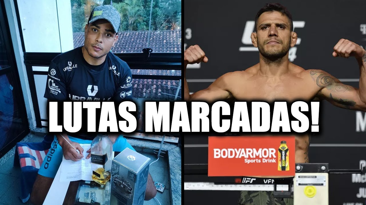 PAULO BORRACHINHA E RAFAEL DOS ANJOS TÊM LUTAS IMPORTANTES MARCADAS!