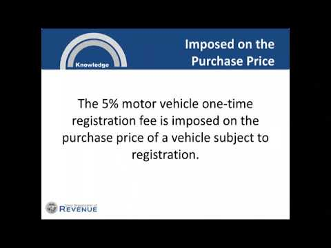 Iowa Department of Revenue - One Time Registration Fee on Vehicle Purchases & Leases