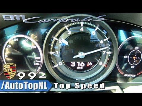 2019 Porsche 911 (992) Carrera 4S 0-316km/h ACCELERATION TOP SPEED & LAUNCH CONTROL by AutoTopNL