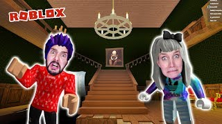 Roblox: FROM GRUSELVILLA! KAAN + NINA IN THE FIERCE GHOST HOUSE! The Mansion Obby
