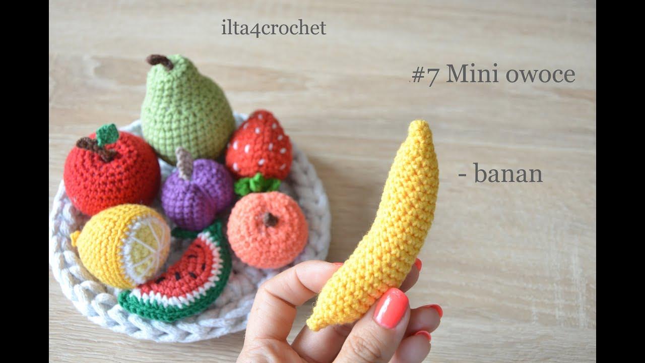 2 Mini owoce - jak zrobić szydełkiem cytrynę - ilta4crochet - YouTube | 720x1280