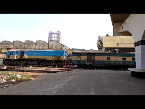 Sylhet Bound Jayantika Express Train Departing Dhaka Railway Station in 4K