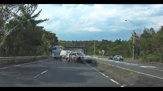 Camry loses control and causes 4X4 to flip - Gosford NSW