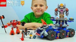 Лего Нексо Найтс Башенный тягач Акселя - Детское видео. Nexo Knights Axl