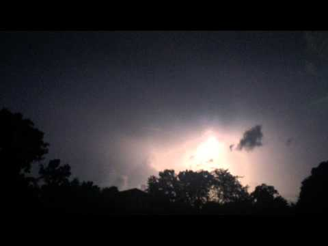 Lake County Illinois Lightning During Tornado and Severe Thunderstorm (from Arlington Heights)