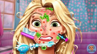 Rapunzel Skin Doctor - game video for kids and girls - 4jvideo