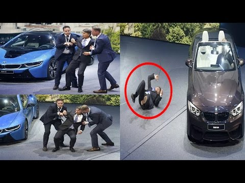 BMW CEO faints on stage at Frankfurt auto show  Germany, September 15, 2015