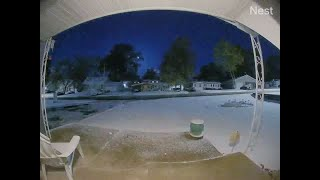 Security camera captures meteor over St. Louis