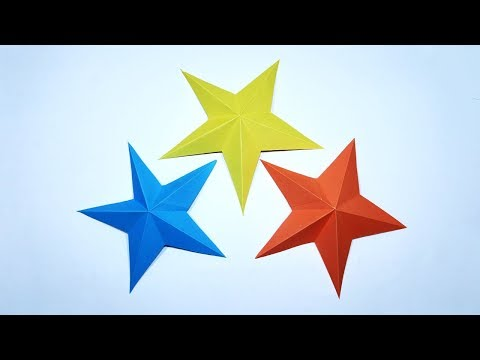 How to Make Simple & Easy Paper Star - DIY Paper Star Tutorial