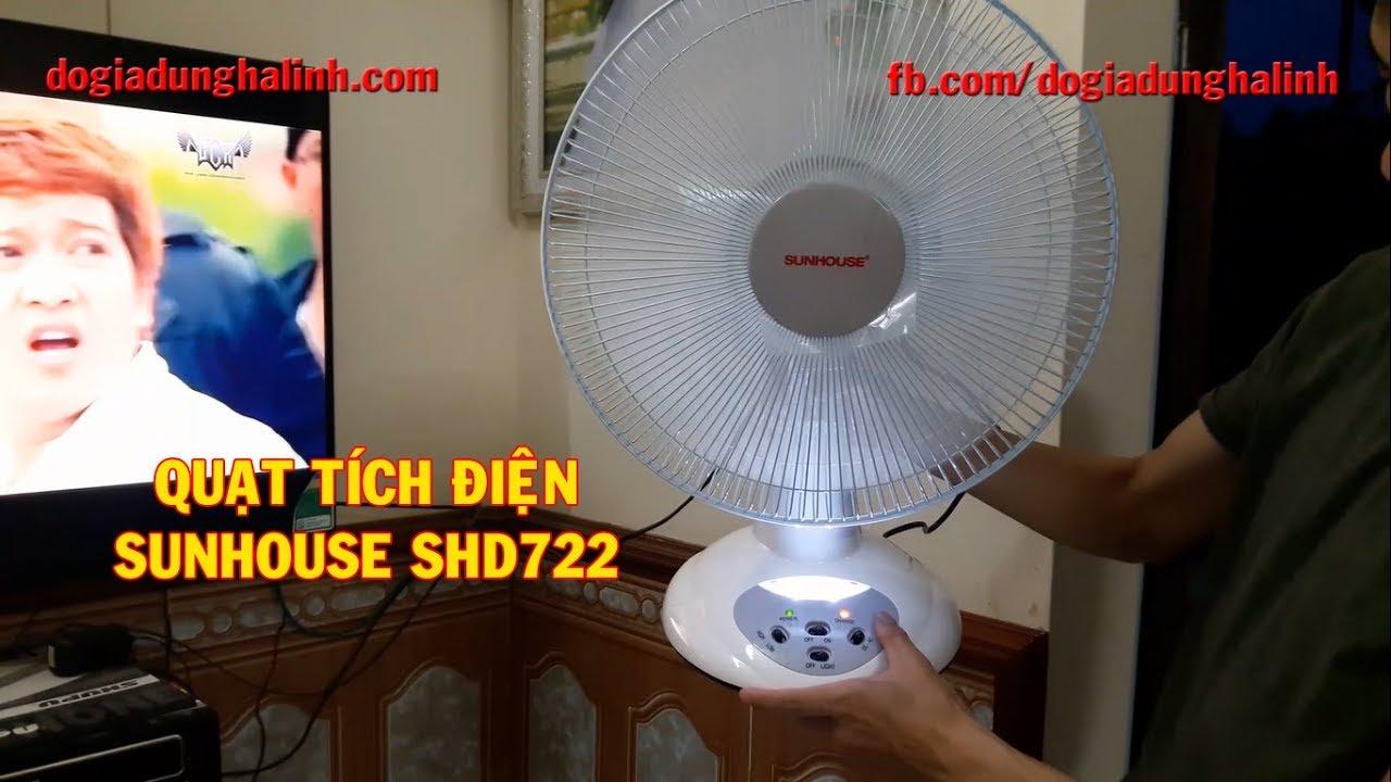 Quạt tích điện Sunhouse SH722 – Đồ gia dụng Hà Linh
