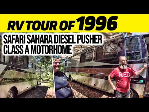 RV Tour Of  1996 Safari Sahara Diesel Pusher Class A Motorhome