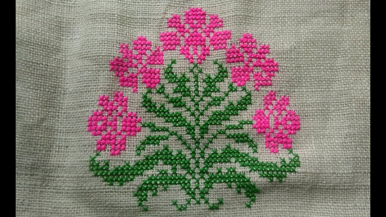 Cross stitch design for side bag (Part 1) || Beautiful ...