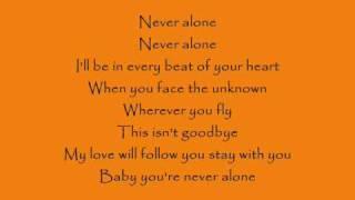 Never Alone Lyrics - Lady Antebellum