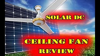 solar dc ceiling fan review best solar fan detail in urdu hindi