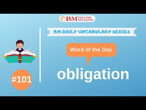 Word Of The Day (obligation) 200 BM Daily Vocabulary | 2019