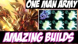 THE ONE MAN ARMY - Legion Commander WITH 5 MJOLLNIR AND MOON SHARD - Amazing Builds vol 64 - Dota 2
