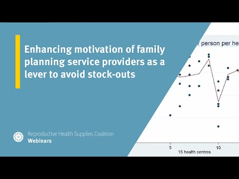 Enhancing motivation of family planning service providers as a lever to avoid stock-outs
