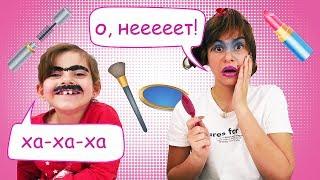 Игры для девочек макияж - Накрасила подругу на свидание! - Видео приколы для детей.